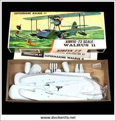 Supermarine Walrus II Aeroplane / Airplane - Vintage Airfix Type 3 Box Kit. 1/72 Scale. Photo in DOCKERILLS - VINTAGE AIRFIX REFERENCE - Google Photos