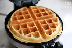 Use this Fluffy Waffle Recipe to make thick, fluffy waffles without the hassle of beating egg whites! Make a double-batch and freeze for homemade waffles in minutes. Easy Waffle Recipe, Waffle Maker Recipes, Waffle Recipe With Baking Soda, Waffle Recipe With Self Rising Flour, Original Waffle Recipe, Waffle Recipe From Scratch, Best Belgian Waffle Recipe, Waffle Batter Recipe, Breakfast Waffles