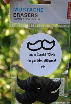 mustache erasers