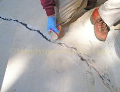 Concrete Crack Repair with Emecole 555: Layered Fill with Sand