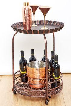 ODI HOUSEWARES Pop! Wine Serving Cart