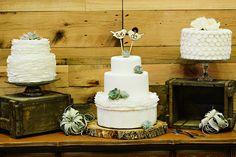 cake tables - photo by Blush Photography http://ruffledblog.com/sundance-resort-wedding