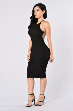 Turn Around Dress - Black