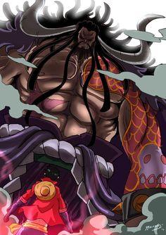 The Hundred Beast Yonkou, Kaidou V/s The Future Pirate King, Luffy! Kaidou V/s Luffy Anime Yugioh, Anime K, Anime Pokemon, Anime Plus, Kaidou One Piece, Anime One Piece, Zoro Nami, Roronoa Zoro, Otaku
