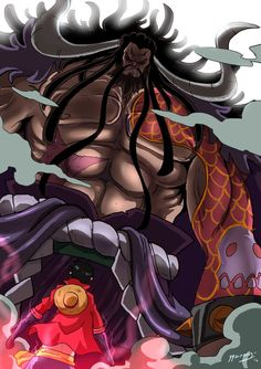 Kaidou V/s Luffy by JazylH.deviantart.com on @DeviantArt