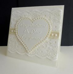Lace Engagement by sistersandie - Cards and Paper Crafts at Splitcoaststampers