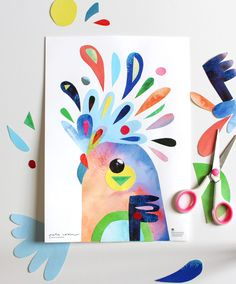 Learn about Australian animals and create beautiful artworks Bird Artwork, Paper Artwork, Artwork Ideas, Bird Drawings, Easy Drawings, Drawing For Kids, Art For Kids, Primary School Art, Bird Birthday Parties