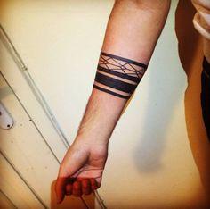 Geometric Blackwork Design by Gloreyhole Tattoos