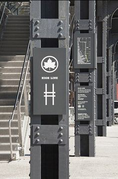 High Line NYC signage by Paula Scher / Pentagram. Click image for link to full profile and visit the slowottawa.ca boards >> http://www.pinterest.com/slowottawa