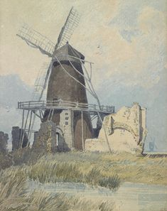 The Mill St Benet's Abbey by John Sell Cotman