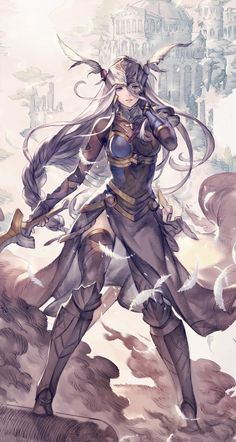 Lenneth Promo from Valkyrie Anatomia: The Origin #illustration #artwork #gaming #videogames #gamer
