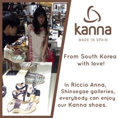 http://www.kannashoes.com/ South Korea, Shinsegae Galleries, Riccio Anna. #shoes #kannashoes #riccioanna #kanna #southkorea