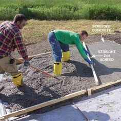 Concrete Pad, Concrete Forms, Poured Concrete, Concrete Projects, Concrete Paving, Concrete Structure, Building A Shed, Building A New Home, Slab Foundation