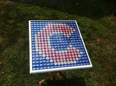 Make with blackhawks logo Beer Bottle Cap Art - Chicago Cubs Logo