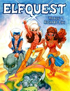 Richard Pini just discovered and shared this vintage piece of Elfquest art on Facebook.  So cool. www.elfquest.com