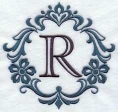 damask letter r 7 inch r letter design machine embroidery patterns embroidery fonts
