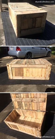 Easy Pallet Trunk or Chest - 100% Reclaimed #Pallets - DIY and Crafts