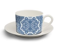 Aurelia - Tea Cup - hand painted water colour pattern - available on Art Rookie - http://www.artrookie.co.uk/item.php?type=8&id=5521