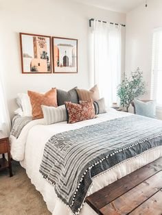 Room Ideas Bedroom, Dream Bedroom, Home Decor Bedroom, Bedroom Inspo, Master Bedroom, Bedroom Bed, Aesthetic Bedroom, New Room, Apartment Living