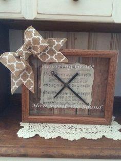Amazing Grace 8 x 10 Wooden Shadow Box by milliesattic123 on Etsy