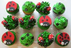 Saw this picture of ladybug cupcakes and thought it would look cute next to Iris Fold Birthday Cupcake card.