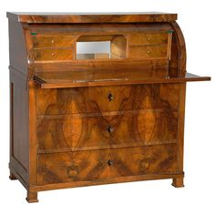 Beautiful Biedermeier Cylinder Secretary 1820 | From a unique collection of antique and modern secretaires at http://www.1stdibs.com/furniture/storage-case-pieces/secretaires/