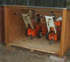 Diy Outdoor Lawnmower Storage Google Search