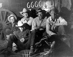 ♥ Cowboys ❦ 6666 Ranch, King County, Texas, May, 1965.