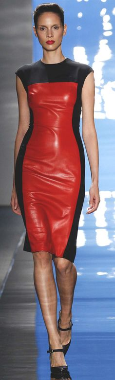 #Reem Acra Spring Summer 2013 Ready-To-Wear Collection  #Trend Leather