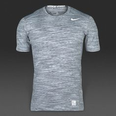 Camiseta Nike Hypercool Fitted Crew Space Dye -Blanco Gris 4a3b614f527