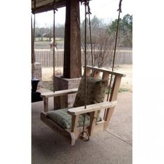 One Person Chair Porch Swings Are Fun!