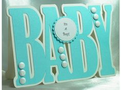 New Baby Card, Baby Boy Card, Handmade, Personalised, Baby Shape card, Blue Card, Congratulations on your new baby card, Birth Announcement by LouisesCardsandGifts on Etsy