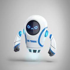 Ingram Robot on Behance Male Character, Fantasy Character, Character Design Girl, Character Design Animation, Character Design Inspiration, Character Concept, Robot Cute, Cool Robots, God Of War