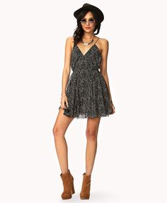 Dotted Spaghetti Strap Dress | FOREVER21 are you east or #WestSide #Boho #OOTD