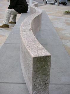 Duke of York Square, London - Wooden Seat Back Detail