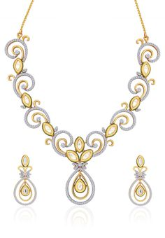 Peora Gold Necklace Set