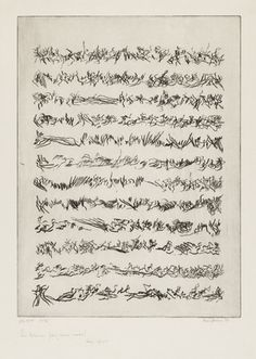 León Ferrari. Untitled. 1977 - asemic writing (Having no specific semantic content, Writing without words ... The form without the sense - Secret talismanic writings... Asemic calligraphy)