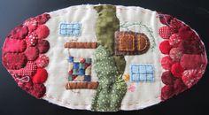 Patchwork by Elektra Z: Monedero- casita/ Little house-shaped coin-purse