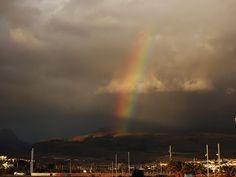 Desde las Islas Canarias  ..Fotografias  : Arcoiris visto desde Meloneras en Maspalomas ...Gr...