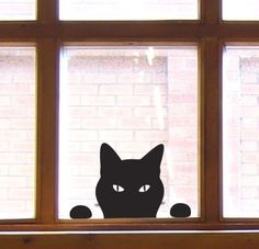 Cat at Window Wall or window decal (sticker). #cats #CatDecal #windows