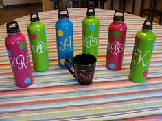 Imperfectly Beautiful: $1 Monogrammed Teacher Gifts  Use vinyl and the cricut