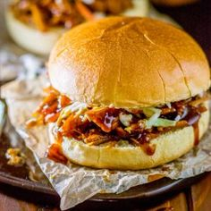 Transform your favorite BBQ sauce into deliciously sweet pulled pork that goes perfectly with just about any sandwich or taco topping.