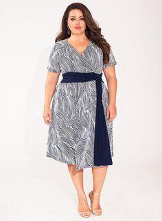 Ryna Dress in Indigo Wave 50% OFF FALL PLUS SIZE FASHION now through Monday at IGIGI http://www.igigi.com/fall-sale/