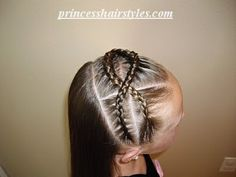 criss cross braided headband princess-hairstyles-for-girls Lil Girl Hairstyles, Princess Hairstyles, Headband Hairstyles, Pretty Hairstyles, Braided Hairstyles, Hairstyle Braid, Cornrows, French Braid Styles, Ariel Hair