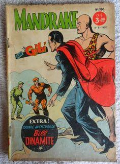 """ANOS DOURADOS: IMAGENS & FATOS: Novembro 2013 - Como não se lembrar do mágico MANDRAKE, que encantava a garotada """"viciada"""" em gibi dos anos 50 e 60. Ele deixava os malfeitores fora de ação só com seus espetaculares truques de ilusionismo (sem usar nenhum arma)! Dc Comic Books, Comic Book Covers, Indrajal Comics, Pub Vintage, Classic Comics, Nostalgia, Comic Strips, Caricature, Cartoon Characters"""