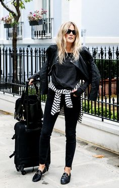 How Your Favourite Instagrammers Dress for the Airport via @WhoWhatWearUK