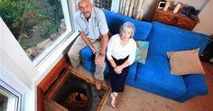 Colin Steer Finds Medieval Well and Sword Under His Plymouth, England Home Plymouth England, Medieval, Archaeological Discoveries, Hidden Rooms, Unusual Homes, Strange Places, Site Plans, English House, Living Room Flooring