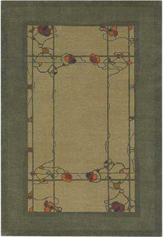 Ted Ellison for Craftsman Rug Collection Passadena Verde L 3833