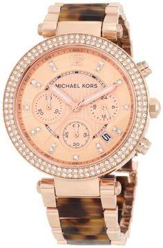 Reloj Michael Kors MK5538 Oro rosa tipo tortuga | Antes: $700,000.00, HOY: $448,000.00