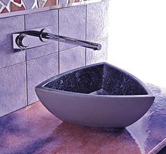 Concept Design of Ceramic Bathroom Beautiful Purple
